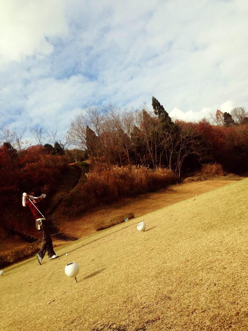 ゴルフ場の秋